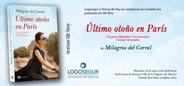 Milagros del Corral presenta su libro en Murcia